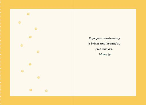 Love Is Sunshine Anniversary Card,