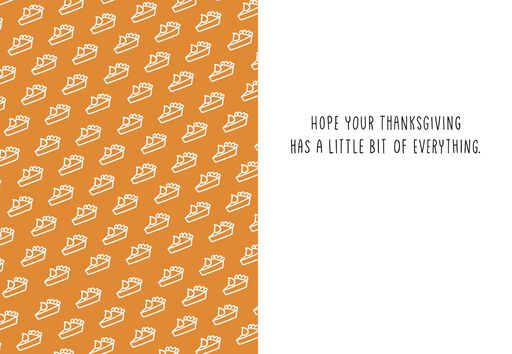 Piece, Love and Whipped Cream Thanksgiving Card,