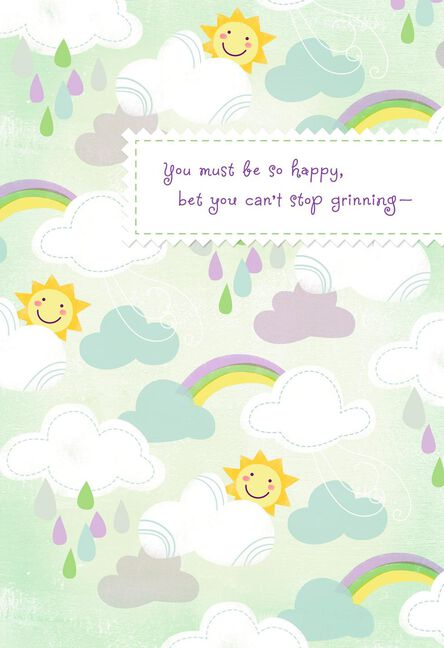 Sunshine and rainbows new baby card for grandparents greeting sunshine and rainbows new baby card for grandparents m4hsunfo
