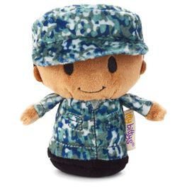 itty bittys® Blue Camo African-American Boy Stuffed Animal, , large