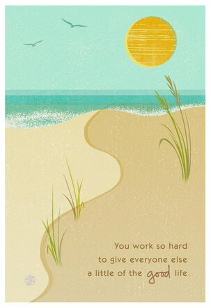 Sandy Beach Father's Day Card