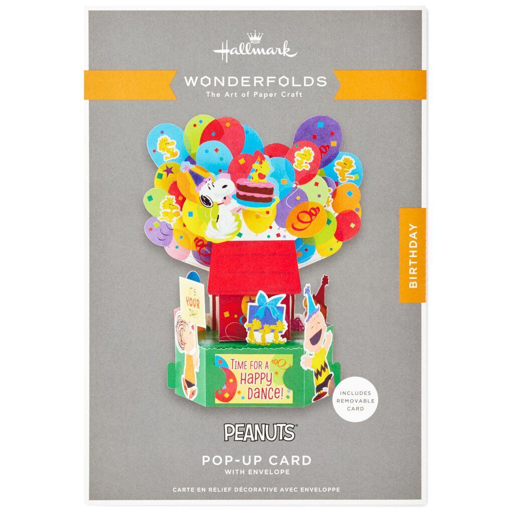 PeanutsR Happy Dance Pop Up Birthday Card
