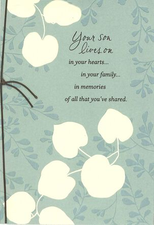 Your Son Lives On In Your Heart Sympathy Card