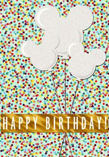 Mickey Mouse Balloons Birthday Card,