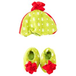 Gift Bow Hat and Bootie Set, 0-6 Months, , large