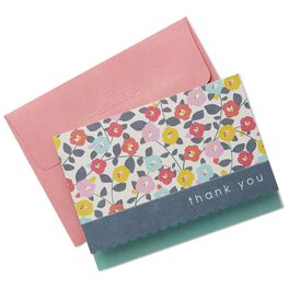 Pastel Flower Pattern Thank You Notes, Box of 10, , large