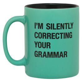 About Face Silently Correcting Your Grammar Mug, 16 oz., , large