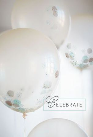 Glitter Balloons Congratulations Card