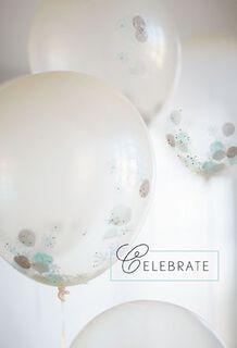 Glitter Balloons Congratulations Card,