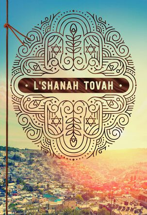 A Year of Many Blessings Rosh Hashanah Card