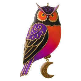"Happy ""Owl""oween Halloween Ornament, , large"