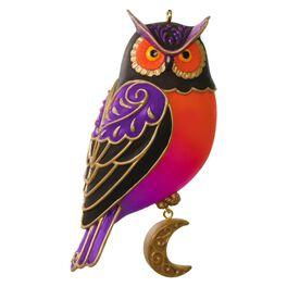 "Happy ""Owl""oween Halloween Ornament, , large"