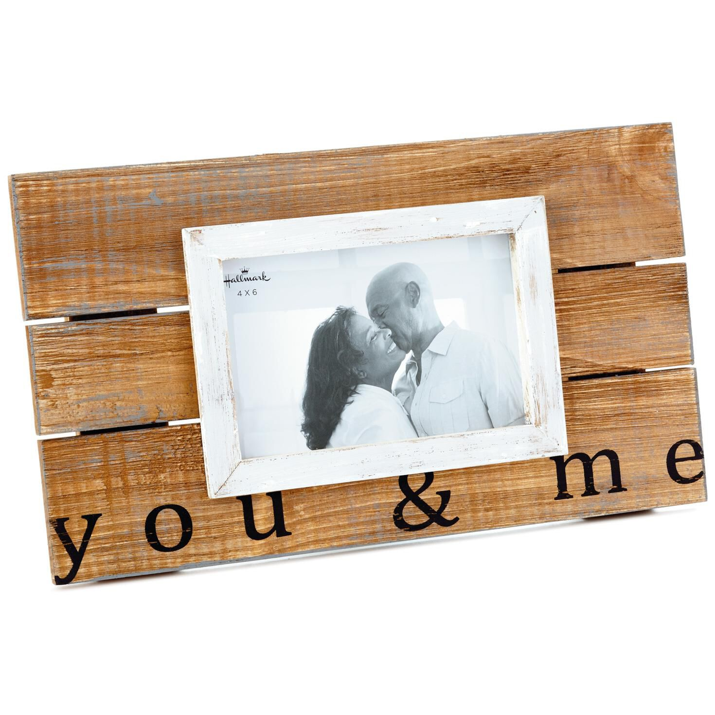 You & Me Wood Slat Picture Frame, 4x6 - Picture Frames - Hallmark
