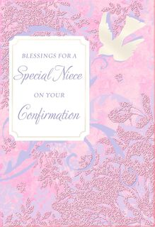 Blessings for a Special Niece Dove Confirmation Card,