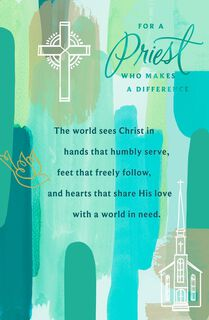 You Make a Difference Religious Easter Card for Priest,