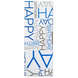 Midnight Blue Happy Birthday Tissue Paper, 6 Sheets, , large