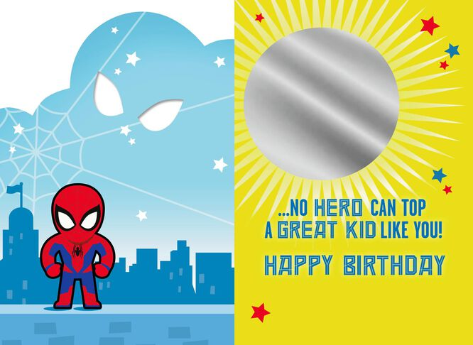 Marvel spider man youre a great kid birthday card greeting cards marvel spider man youre a great kid birthday card bookmarktalkfo Choice Image