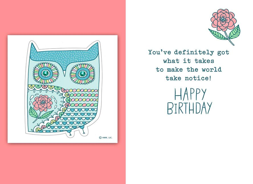 Smart Kind Cool Birthday Card With Stickers Greeting Cards Hallmark