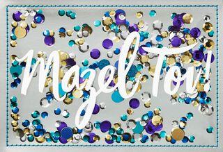 Mazel Tov with Confetti Blank Card,