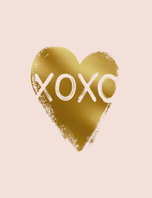 XOXO Blank Love Card