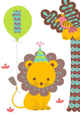 Cutest Cub in the Jungle 1st Birthday Card