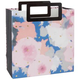 "Abstract Floral Large Square Gift Bag, 10.5"", , large"