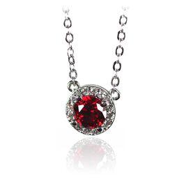 Birthstone Necklace, March Aqua, large