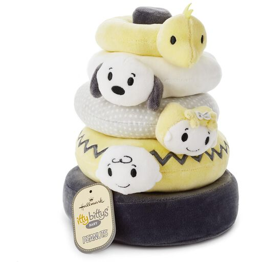 Gifts for baby gifts for new parents hallmark itty bittys peanuts baby stuffed animal stacker negle Images
