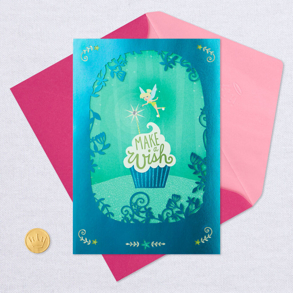 Make A Wish Daughter Tinker Bell Birthday Card
