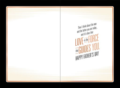 Star Wars™ Love Is the Force Father's Day Card for Son,