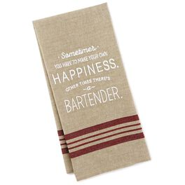 Make Your Own Happiness Bar Towel, , large