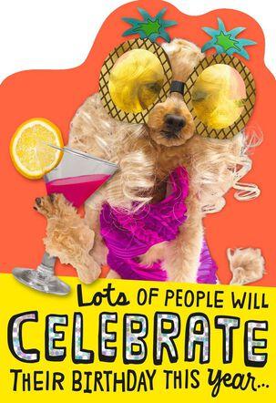 Stylish Poodle Birthday Card