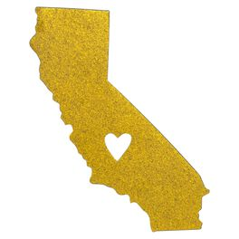 California State Silhouette Car Magnet, , large