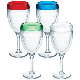 Tervis® Multi-Color 9 oz. Wine Glasses, Set of 4, , large