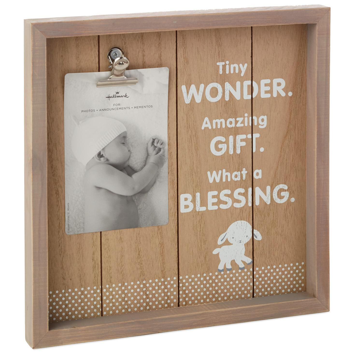 tiny blessing lamb picture frame 4x6 large