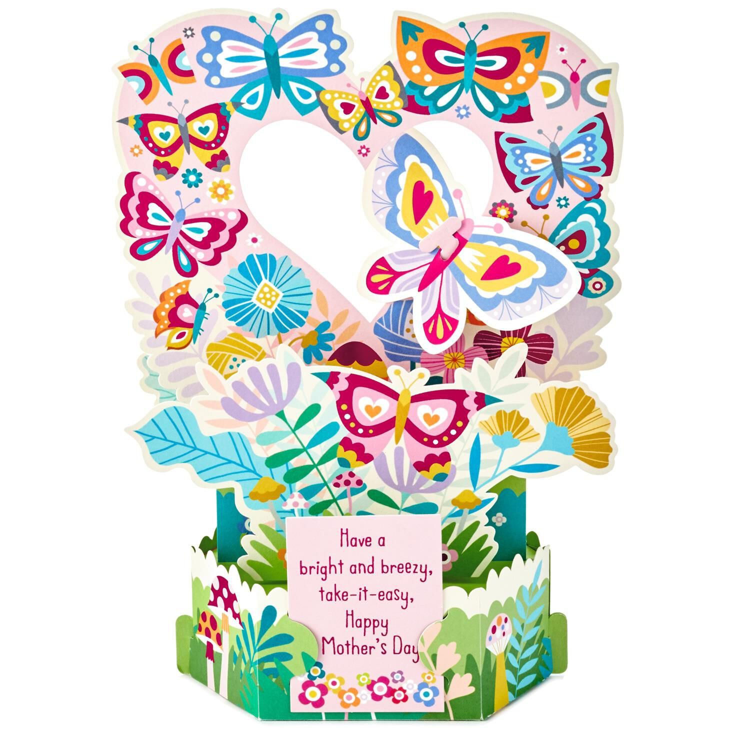 Butterflies And Flowers Pop Up Mothers Day Card Greeting Cards