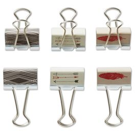 Arrow and Feather Decorative Metal Clips, Set of 6, , large