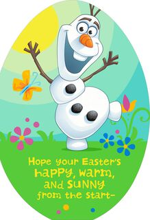 Frozen Olaf Easter Card for Kid,