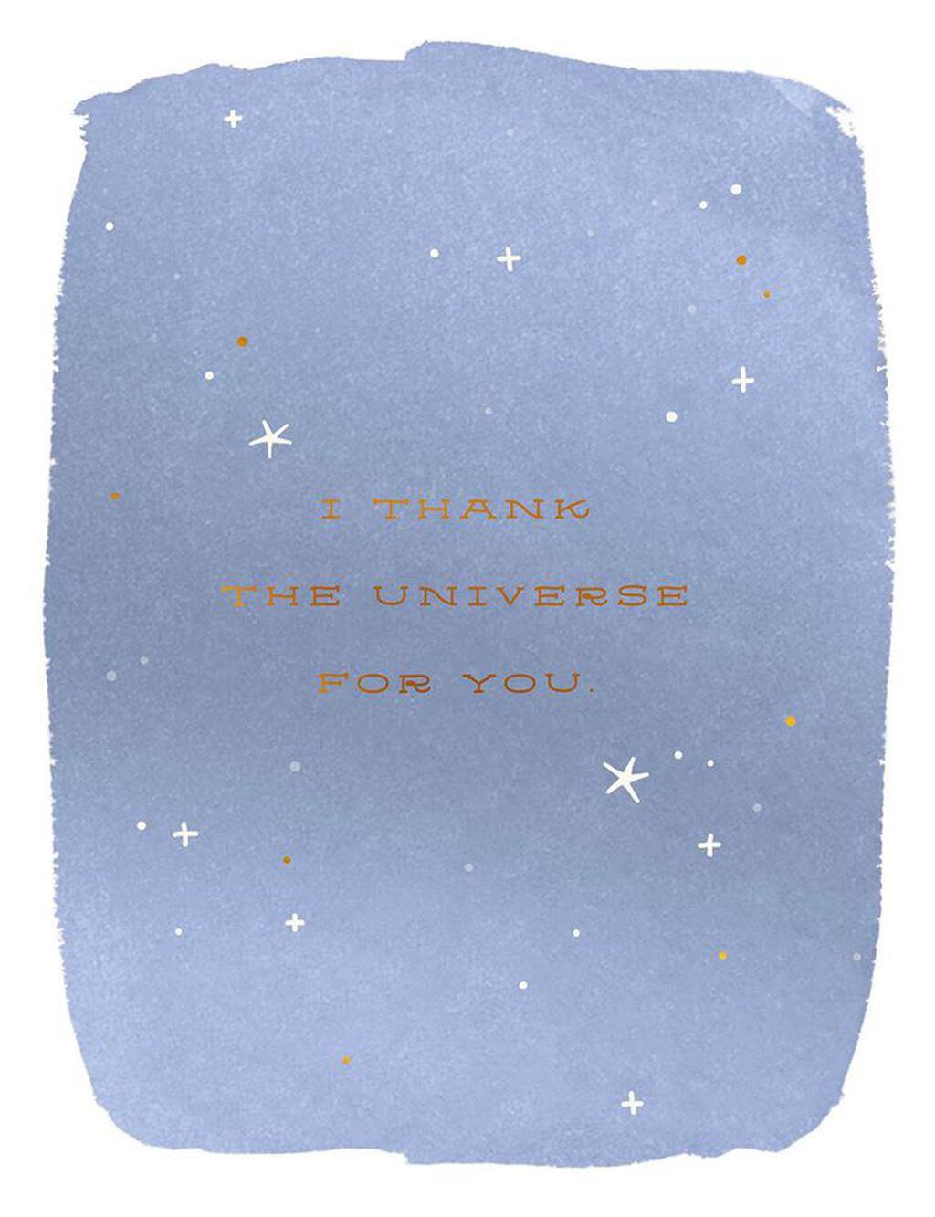 Thank The Universe Birthday Card Greeting Cards Hallmark