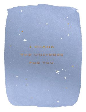 Thank the Universe Birthday Card