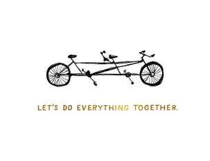 Bike for Two Love Card