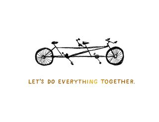 Bike for Two Love Card,