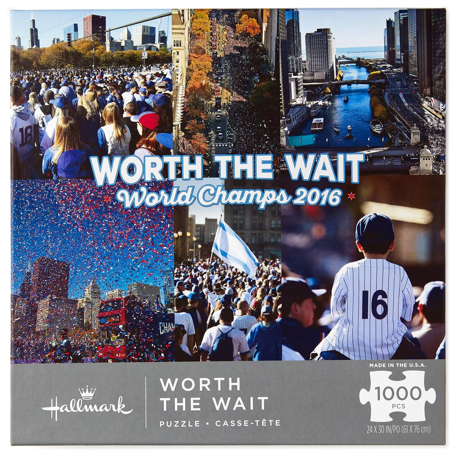 Worth The Wait Chicago Championship Parade Piece Puzzle - Chicago map puzzle