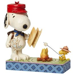 Jim Shore® Peanuts® Snoopy and Woodstock Campfire Figurine, , large
