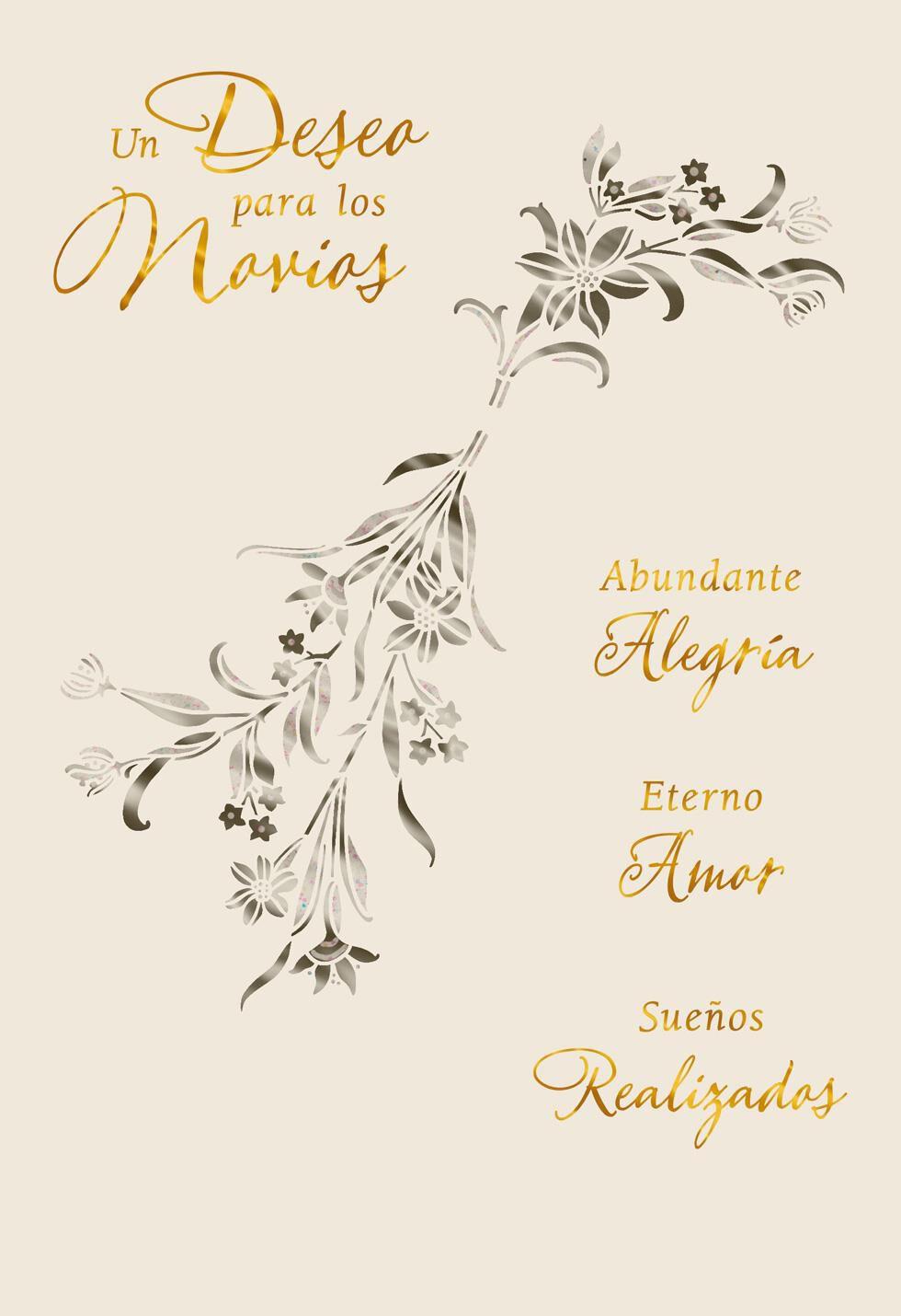 Wishes for the Newlyweds SpanishLanguage Wedding Card Greeting