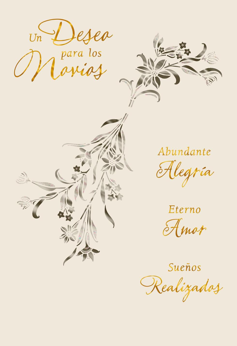 Wishes For The Newlyweds Spanish Language Wedding Card Greeting Cards Hallmark