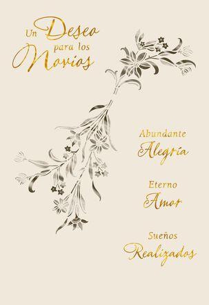 Wishes for the Newlyweds Spanish-Language Wedding Card