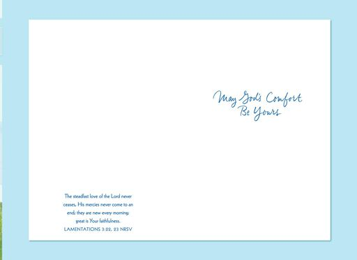 May God's Comfort Be Yours Religious Sympathy Card,
