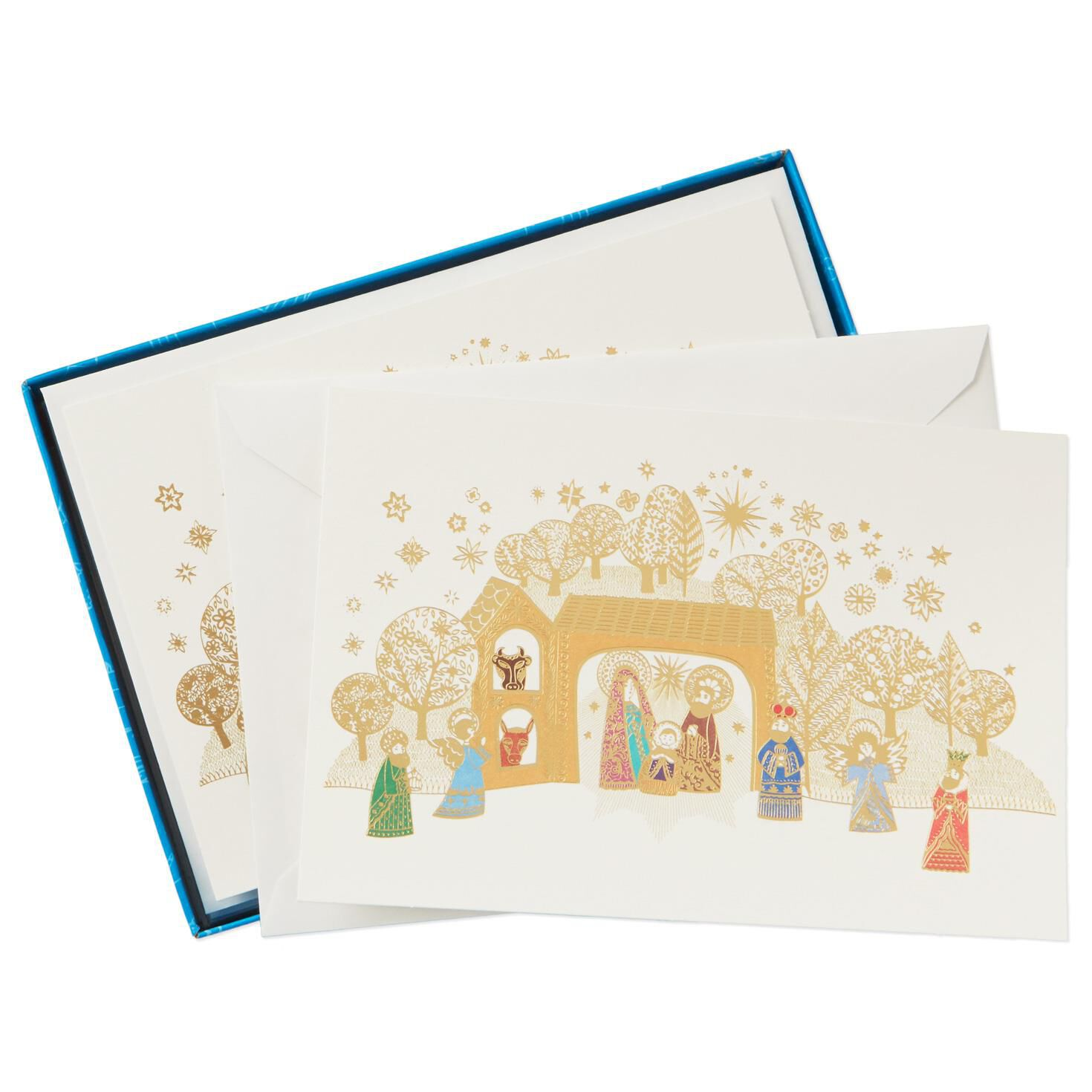 UNICEF Colorful Nativity Christmas Cards, Box of 12 - Boxed Cards ...
