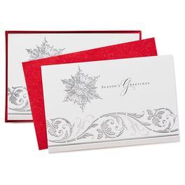 Season's Snowflakes Christmas Cards, Box of 40, , large